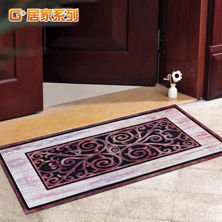 【G+居家】 橡膠植絨 迎賓戶外地墊 -迎春納福(50*120cm)