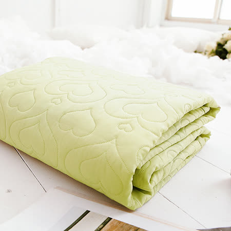 J-bedtime【愛情調色盤-迷戀綠】雙人絕美壓紋平單式防汙保潔墊