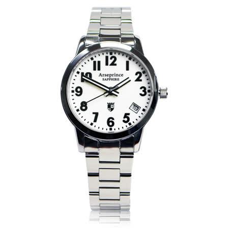 【Arseprince】經典指針個性時尚女錶-白色