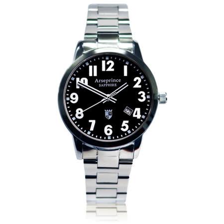 【Arseprince】經典指針個性時尚男錶-黑色