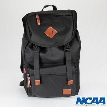 NCAA 防潑水豬鼻拉繩後背包 黑色