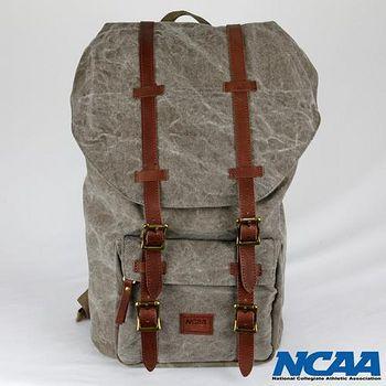NCAA 棉帆布水洗拉繩後背包 (卡其色/黑色)2色可選