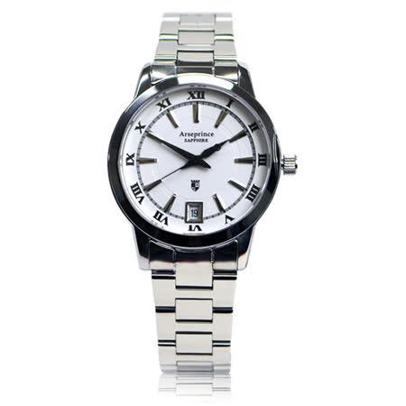 【Arseprince】羅馬時光復古時尚女錶-白色