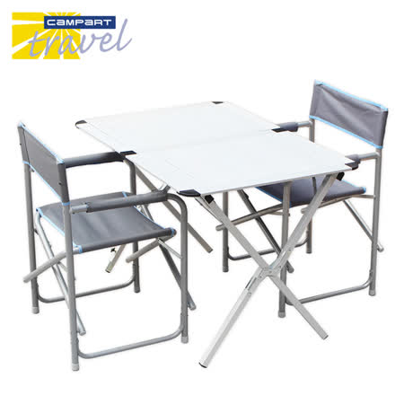 《Campart Travel 》荷蘭墾旅 家庭四人蛋捲桌TA-0802+導演椅2入CH-0536組合