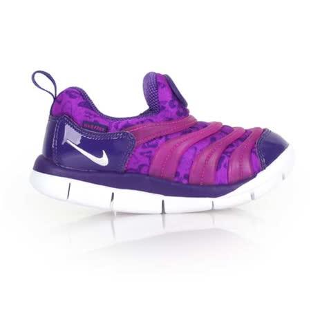 (童) NIKE DYNAMO FREE PRINT -TD男女嬰運動鞋- 兒 紫白