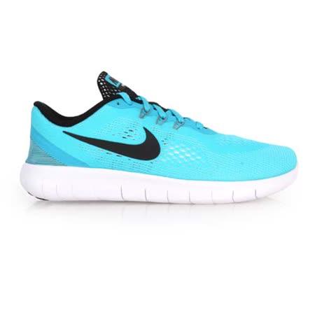 (女) NIKE FREE RN -GS 慢跑鞋 - 路跑 輕跑鞋 水藍白