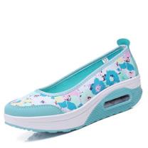 【Maya easy】增高搖擺鞋淑女淺口型氣墊好走鞋-35-40號【水藍色】