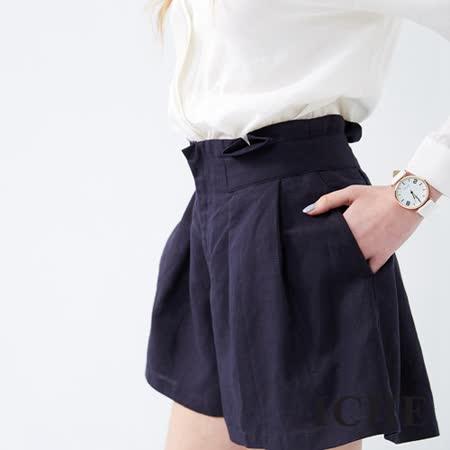 ICHE 衣哲 前打摺造型寬褲 兩色