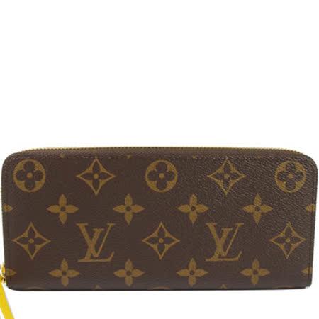 【勸敗】gohappy 購物網Louis Vuitton LV M61537 Clemence 經典花紋拉鍊長夾.黃 現貨好嗎嘉義 市 百貨 公司