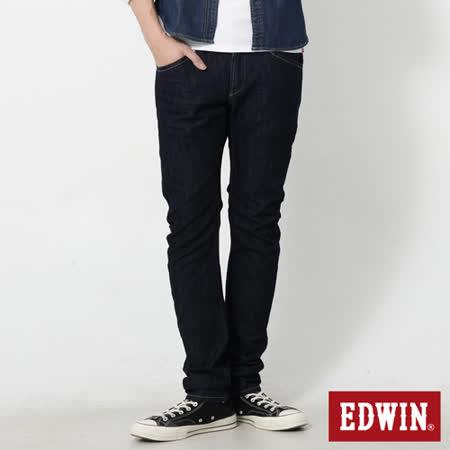 EDWIN 大尺碼 E-F機能3D窄直筒牛仔褲-男-原藍色