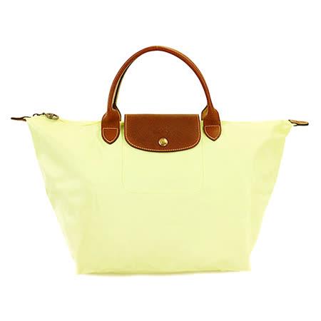 Longchamp 經典高彩度可摺疊水餃包_ 短把/中/茴香綠
