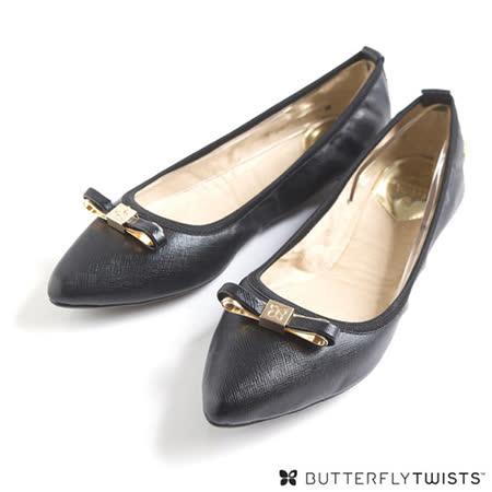 BUTTERFLY TWISTS - ISOBEL可折疊扭轉芭蕾舞鞋-經典黑