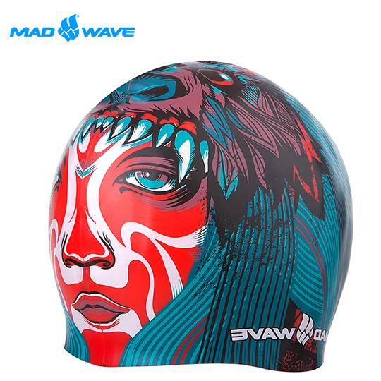 俄羅三越 百貨斯MADWAVE成人矽膠泳帽 TRIBE贈送Barracuda醫療耳塞