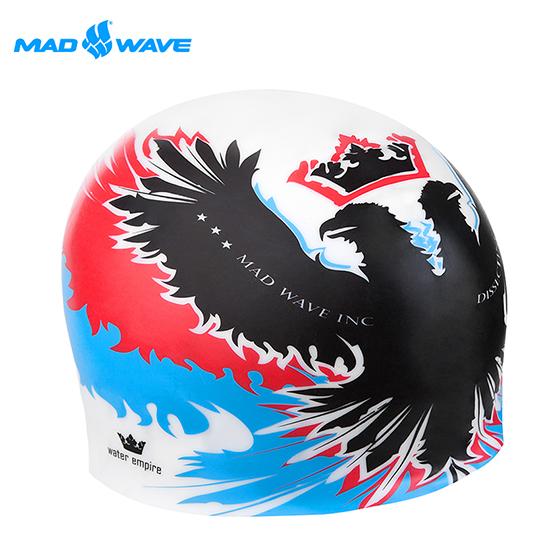 俄羅斯M大 遠 百 週年 慶ADWAVE成人矽膠泳帽 EMPIRE 紅藍色