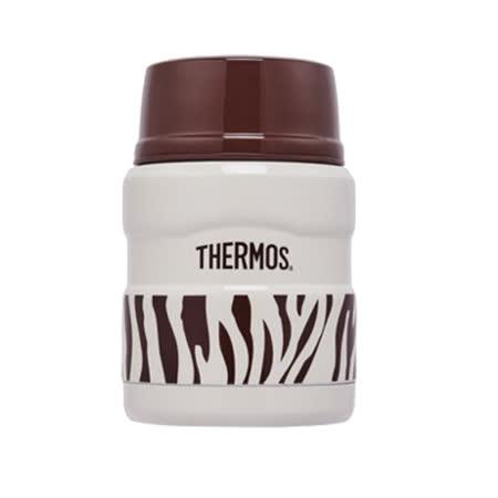 THERMOS膳魔師 不鏽鋼真空保溫燜燒食物罐0.47L 優雅斑馬(SK3000-ZWH)