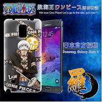 日本東映授權正版航海王 Samsung Galaxy Note 4 透明軟式手機殼(封鎖羅)