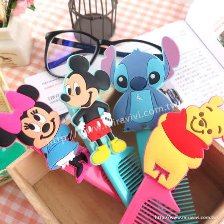 Disney 可愛人物造型扁梳/梳子/隨身梳