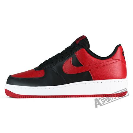NIKE (男) 耐吉 AIR FORCE 1 07 休閒鞋 紅/黑-820266009