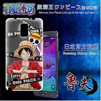 日本東映授權正版航海王 Samsung Galaxy Note 4  透明軟式手機殼(封鎖魯夫)