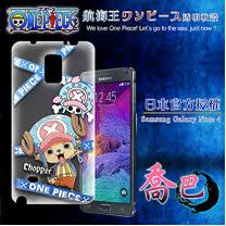 日本東映授權正版航海王 Samsung Galaxy Note 4  透明軟式手機殼(封鎖喬巴)