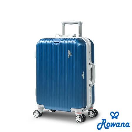 Rowana 美式率性掛扣鋁框行李箱 20吋 (藍色)