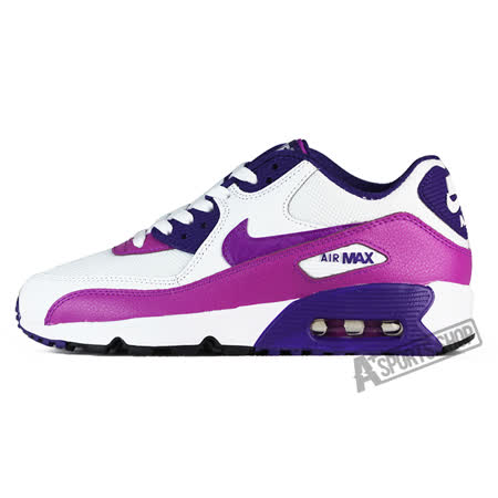 NIKE (大童) 耐吉 AIR MAX 90 MESH GG 休閒鞋 白/紅-833340105