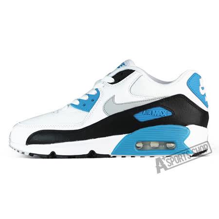 NIKE (大童) 耐吉 AIR MAX 90 MESH BG 休閒鞋 白/藍-833418101