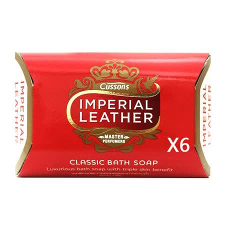 (六入)原裝進口CUSSONS IMPERIAL LEATHER帝王檀香皂100g