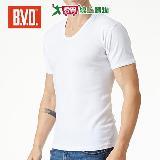 BVD純棉U領短袖衫(M~XL)