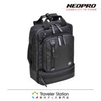《Traveler Station》NEOPRO 日本機能包超輕商務款電腦後背包-黑色