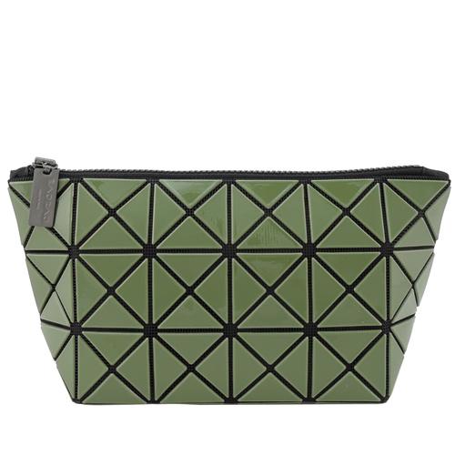 三宅一生 BAOBAO幾何方格3x6萬用化妝包(軍綠)