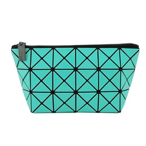 三宅一生 BAOBAO幾何方格3x6萬用化妝包(湖水綠)