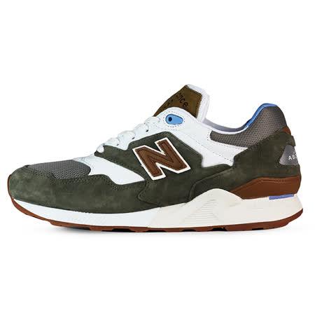 New Balance 男 ML878 TIER 2 紐巴倫 復古鞋 綠/白/棕 - ML878ATB