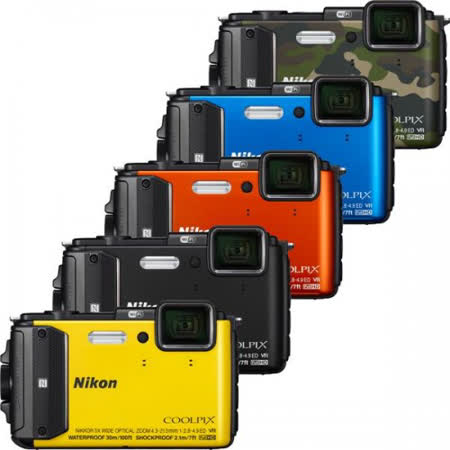 Nikon COOLPIX AW130 防水相機(公司貨)-送64G+專用電池+座充+原廠相機包+清潔組+保護貼