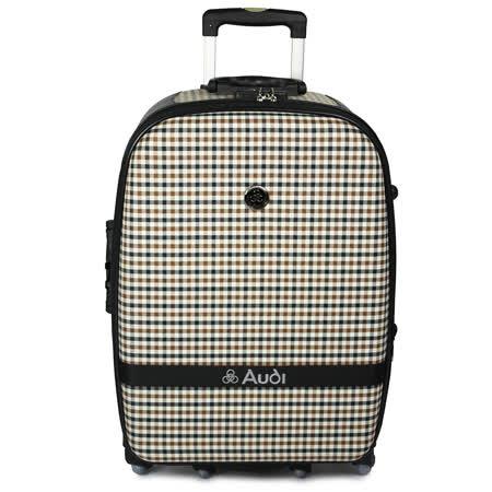 【Audi 奧迪】29吋方格紋6輪360度~Audi旅行箱行李箱M-61529-黑