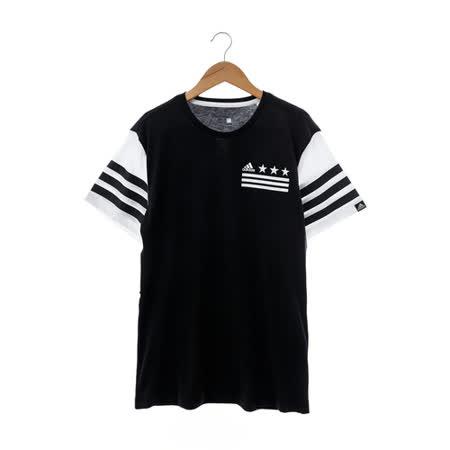 Adidas(男)圓領T(短)-黑白-AI6050