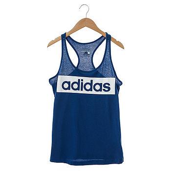 Adidas(女)背心(基本款)-藍-AJ4563