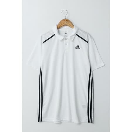 Adidas(男)POLO衫(短)-白-AJ5516