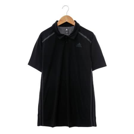 Adidas 男 POLO衫(短)-黑-AJ5519