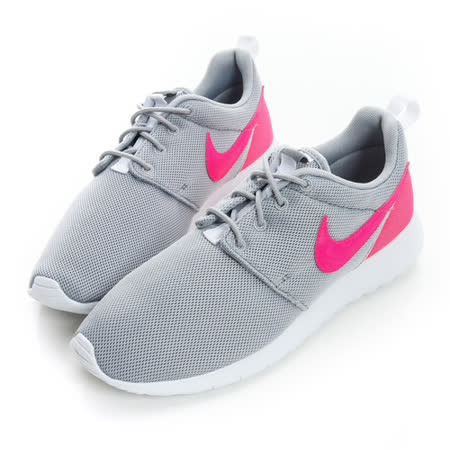 NIKE(大童/女)慢跑鞋-灰粉-599729012