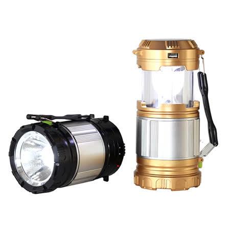 多用途兩用伸縮戶外露營探照燈-黑/金(GL-9599-Z)