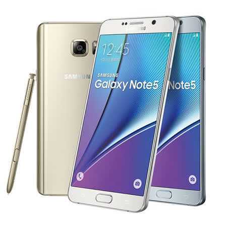 Samsung GALAXY Note 5 5.7吋智慧型手機-(4G/32G) -加送3.1A USB雙孔充電器+玻板 新 愛 買璃保護貼