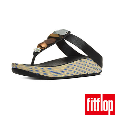 FitFlop™-(女款)JEWELEY™ TOE-POST-黑色