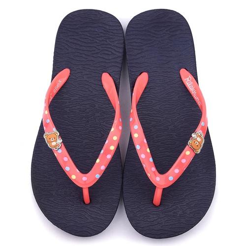 童鞋城堡-拉拉熊 女款 輕量夾腳拖鞋KM26100-藍