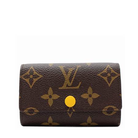 Louis Vuitton LV M61539 經典花紋六扣鑰匙包.花蕊黄_預購