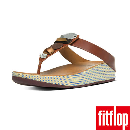 FitFlop™-(女款)JEWELEY™ TOE-POST-深褐色