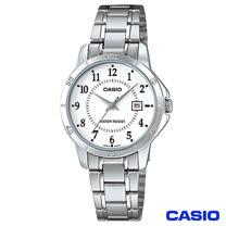 CASIO卡西歐 女仕休閒時尚鋼帶腕錶-白 LTP-V004D-7B