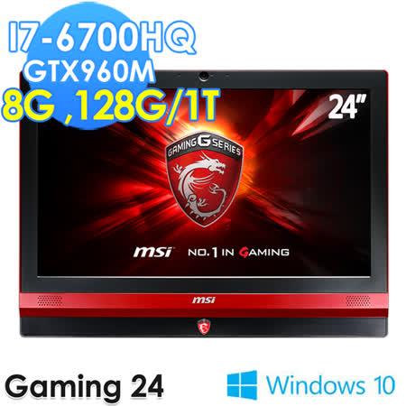 msi微星 Gaming24 6QE-014TW 24吋 i7-6700HQ GTX960M 電競AIO