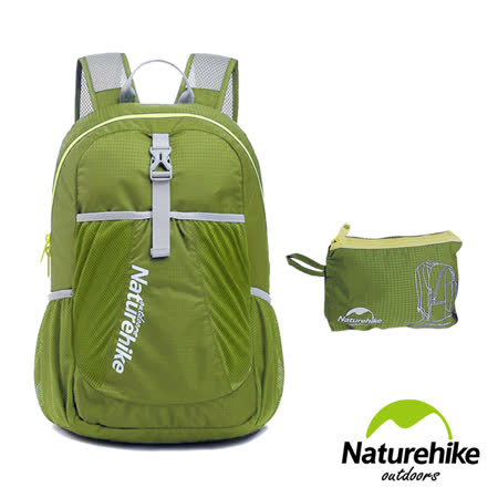 Naturehike 22L超輕量折疊收納後背包 登山包 攻頂包(草綠)