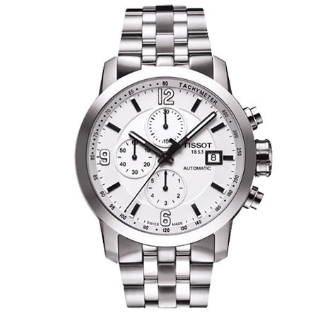 TISSOTT-Sport PRC200系列運動計時腕錶(銀-43 mm -T0554271101700)